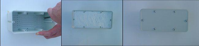 Une fois la présence détectée, les témoins sont remplacés par la formulation LABIRYNTH © à base de cellulose et de termicide.